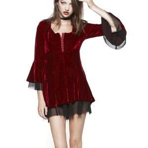 RARE UNIF Poison Ivy Velvet Dress Costume